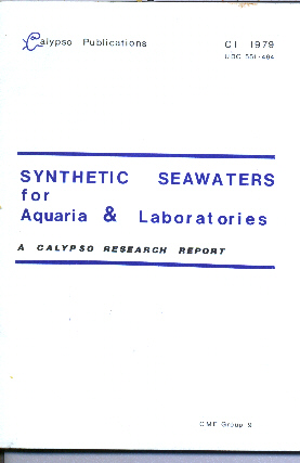 Front cover of the original 1979 Edition of Synthetic Seawaters